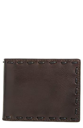 John Varvatos Star Usa Pickstitch Leather Bifold Wallet - Brown