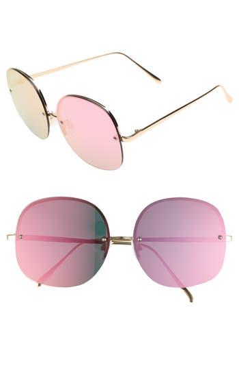 Women's Leith 62Mm Mirror Lens Rimless Sunglasses -