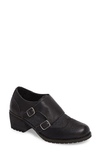 Aetrex Dina Double Monk Strap Ankle Boot Black