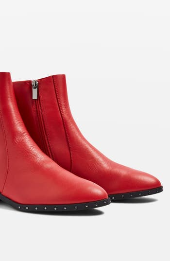 Topshop Kash Sock Boot - Red