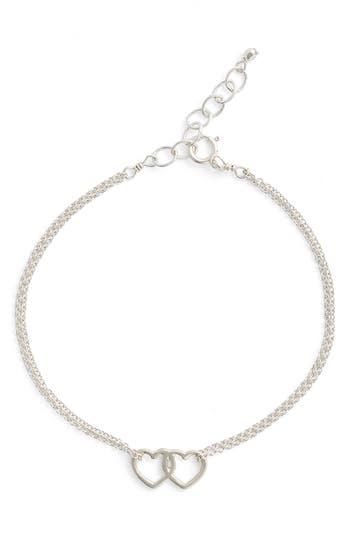 Women's Dogeared Friendship Linked Open Heart Charm Chain Bracelet