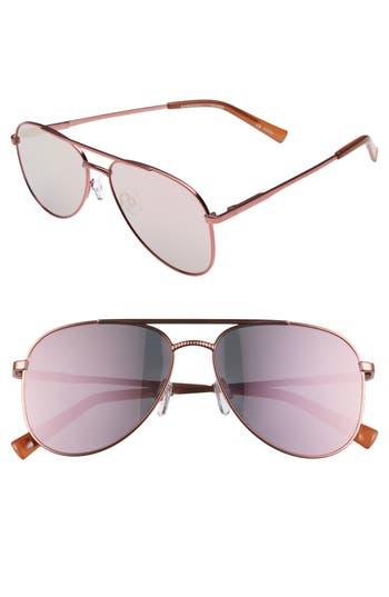 Le Specs Kingdom 57Mm Aviator Sunglasses -