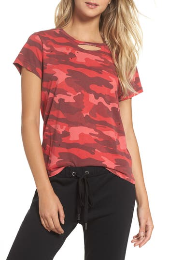 Women's Ragdoll Distressed Camo Tee