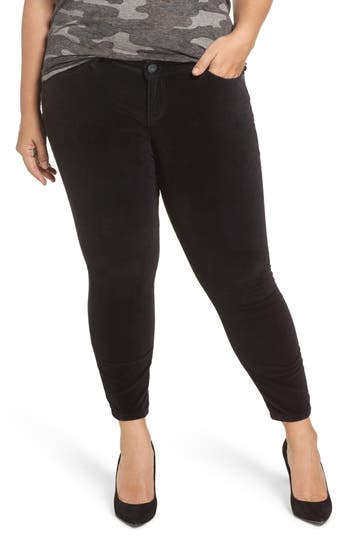 Plus Size Women's Slink Jeans Velvet Skinny Ankle Jeans