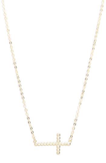 Women's Melinda Maria Cubic Zirconia Cross Necklace