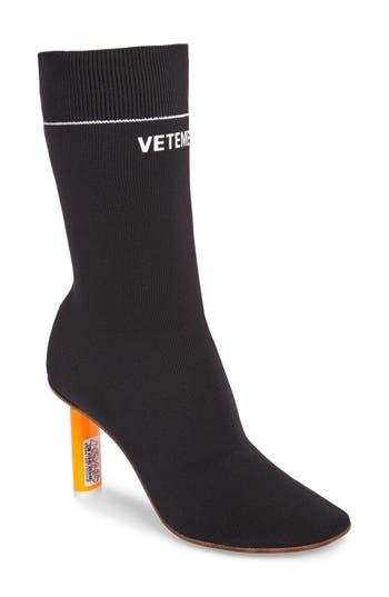 Vetements Sock Boot, Black