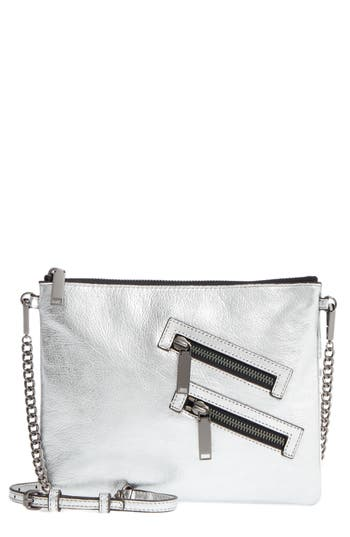 Rebecca Minkoff Jon Leather Crossbody Bag - Metallic