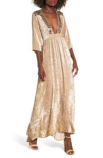 Women's Raga Romantic Visions Velvet Maxi Dress