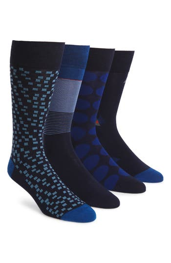 Men's Cole Haan 4-Pack Mixed Pattern Socks