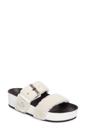 Women's Rag & Bone Evin Genuine Shearling Slide Sandal