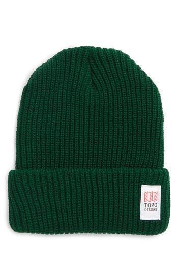 Men's Topo Designers Heavyweight Knit Cap - Green