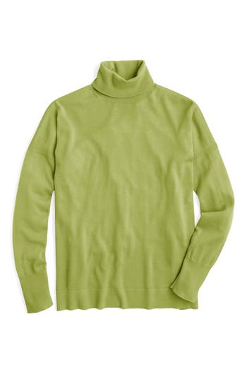 Women's J.crew Nyla Weekend Merino Turtleneck, Size X-Small - Green