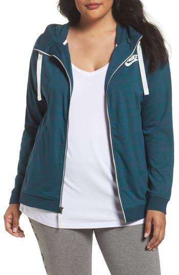 Plus Size Women's Nike Sportswear Gym Classic Hoodie, Size 2X - Green