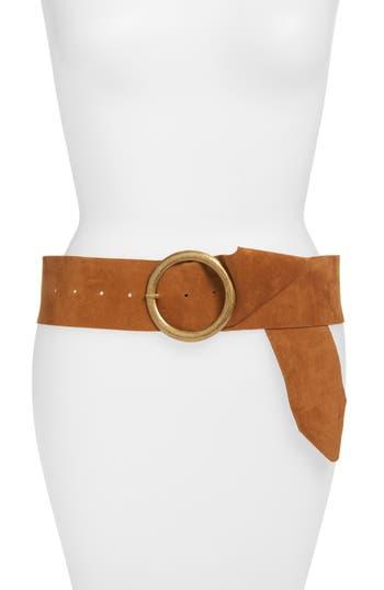 Women's Elise M. Lourdes Faux Suede Belt, Size Small/Medium - Cognac