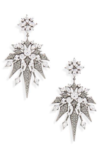 Women's Nadri Noel Long Crystal Drop Earrings