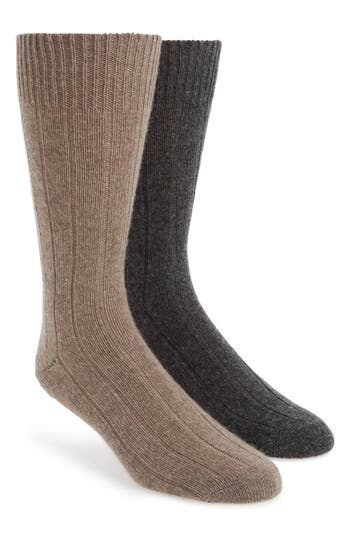Men's John W. Nordstrom 2-Pack Cashmere Blend Socks Box Set