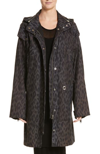 Women's Proenza Schouler Pswl Convertible Washed Cotton Military Coat, Size X-Small - Black