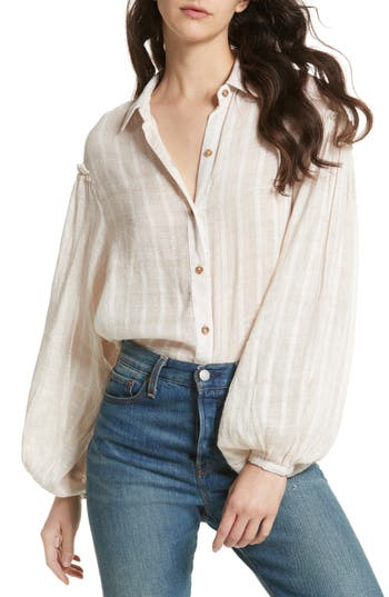 Free People Headed To The Highlands Blouse, Coral