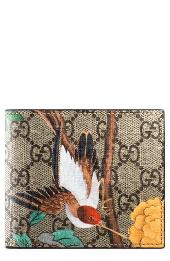 Men's Gucci Bird Wallet - Beige