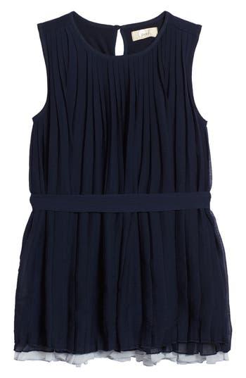 Girl's Peek Stefanie Pleated Dress