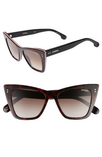 Carrera Eyewear 52Mm Cat Eye Sunglasses - Dark Havana