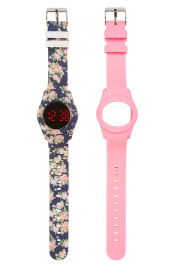 Girl's Titanium Led Watch With Interchangeable Band