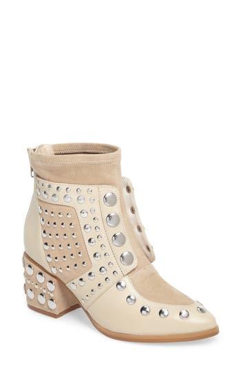 Women's Cecelia New York Michael Studded Boot, Size 6 M - Beige