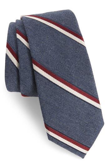 1960s Men's Ties | Skinny Ties, Slim Ties Mens Nordstrom Mens Shop Bushwick Stripe Cotton Blend Skinny Tie Size Regular - Red $39.50 AT vintagedancer.com