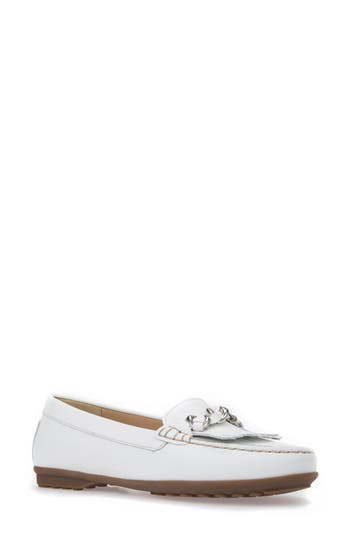 Geox Elidia Moccasin Loafer, White