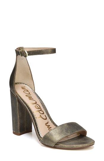 Sam Edelman Yaro Ankle Strap Sandal, Metallic