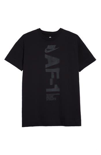 Nike Nsw Heavyweight Af-1 T-Shirt, Black