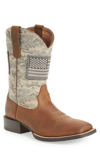 Ariat Sport Patriot Cowboy Boot- Brown