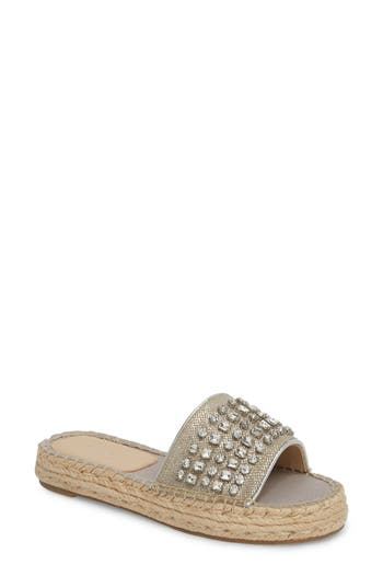 Botkier Julie Slide Sandal, Metallic