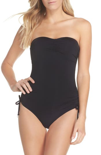 Seafolly Active Bandeau One-Piece Swimsuit, US / 8 AU - Black
