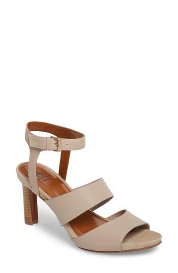 Aquatalia Basha Ankle Strap Sandal, Beige