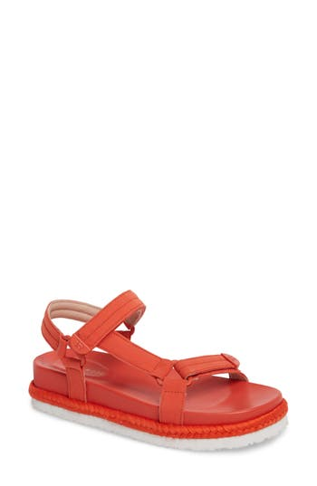 Taryn Rose Lydia Platform Sport Sandal, Red