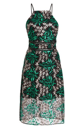 Sam Edelman Embroidered Lace Pencil Dress, Pink