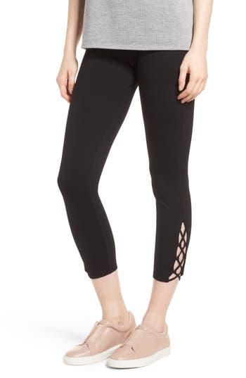 Lysse Clio Laced Ankle Leggings, Black