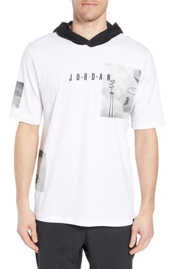 Nike Jordan Modern Photo Hooded T-Shirt, White