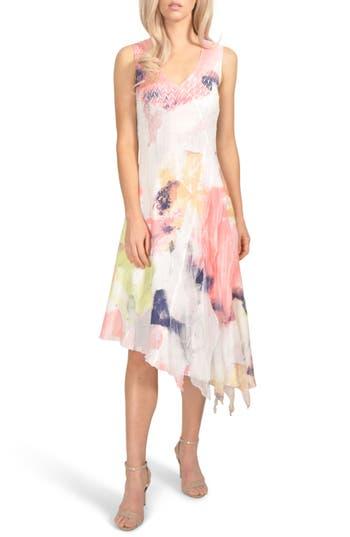 Komarov Charmeuse & Chiffon Dress, Ivory
