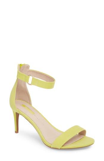 Women's Topshop Ringed Sandal, Size 7.5US / 38EU M - Yellow