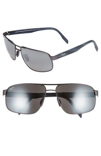 Maui Jim Whitehaven 6m Polarized Sunglasses - Dark Gunmetal/ Neutral Grey