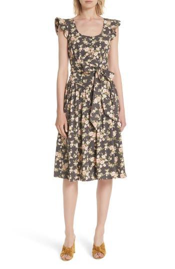 La Vie Rebecca Taylor Madeleine Sleeveless Cotton Dress, Grey