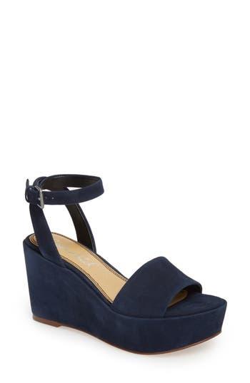 Splendid Felix Platform Wedge Sandal, Blue