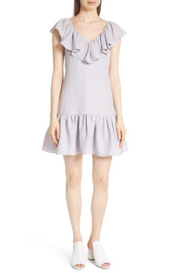 Rebecca Taylor Ruffle Shift Dress, Purple