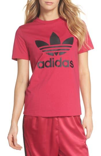 Adidas Logo Graphic Short Sleeve Tee, Pink