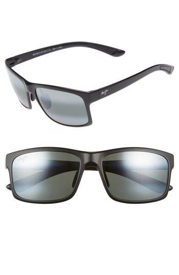 Maui Jim Pokowai Arch 5m Polarized Sunglasses - Black Matte/ Neutral Grey