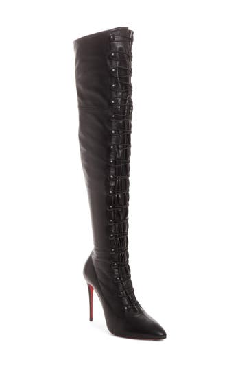 Christian Louboutin French Tutu Over The Knee Boot, Black