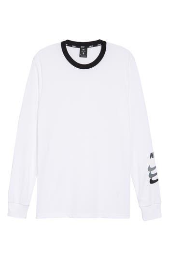 Nike Sb Dry Gfx Long Sleeve T-Shirt, White
