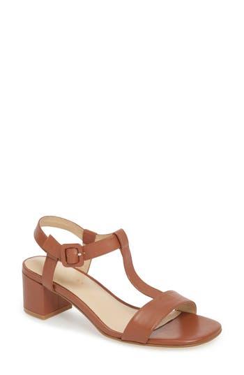 Grey City T-Strap Sandal, Brown
